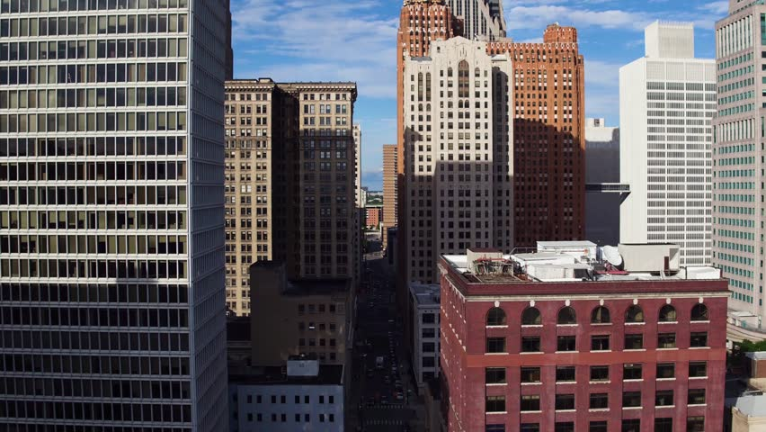 Tilting Aerial Shot of City Skyline