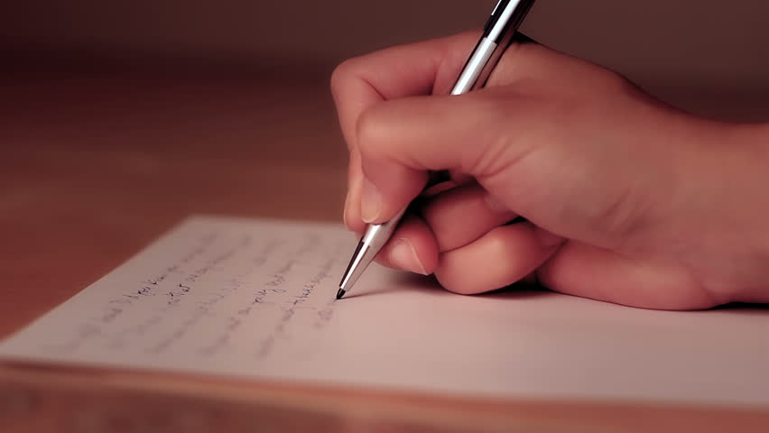 Female Hand Writing On a Stock Footage Video (100% Royalty-free) 3161677 | Shutterstock