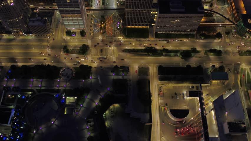 Aerial Michigan Detroit July 2017 Night 4K Inspire 2