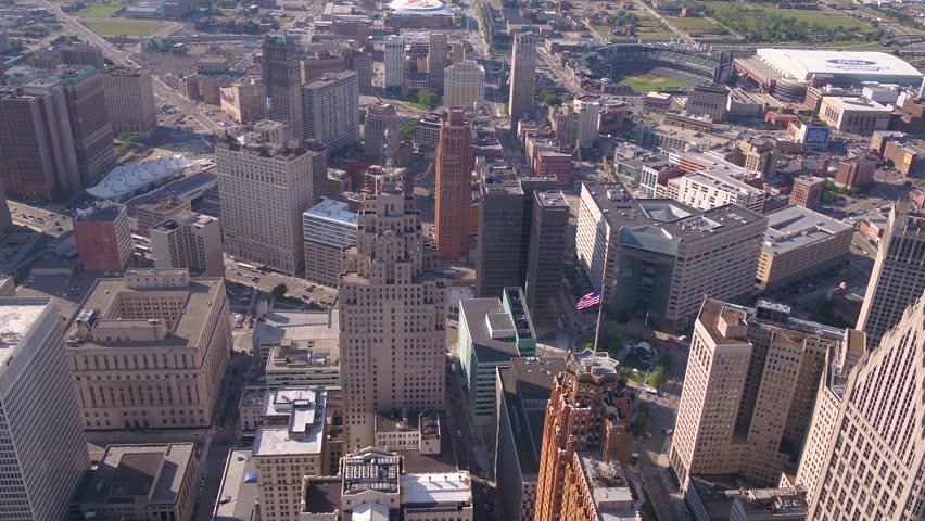 Aerial Michigan Detroit July 2017 Sunny Day 4K Inspire 2