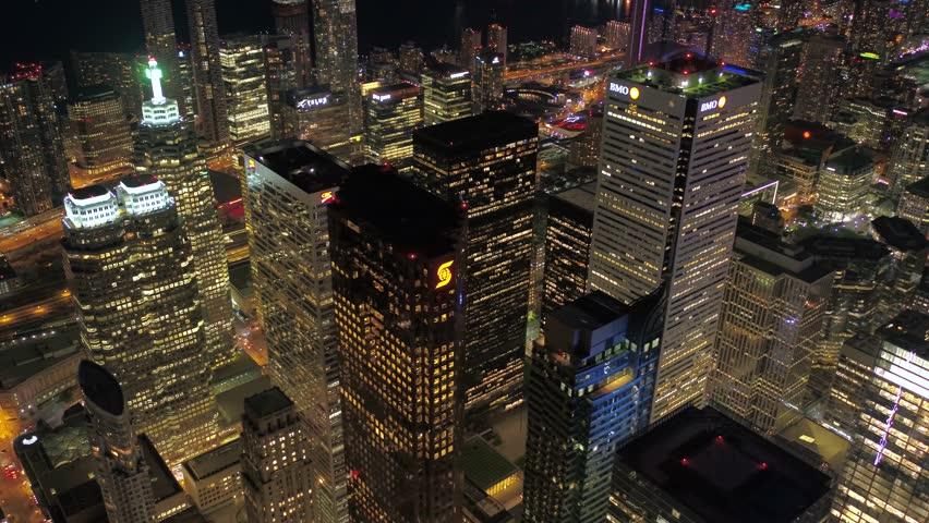 Aerial Canada Toronto July 2017 Night 4K Inspire 2 | Shutterstock HD Video #31633048