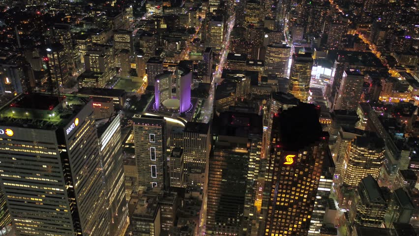 Aerial Canada Toronto July 2017 Night 4K Inspire 2 | Shutterstock HD Video #31633075