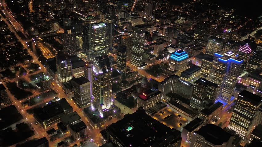 Aerial Canada Montreal July 2017 Night 4K Inspire 2 | Shutterstock HD Video #31633432