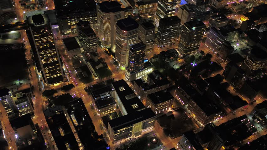 Aerial Canada Montreal July 2017 Night 4K Inspire 2 | Shutterstock HD Video #31633456