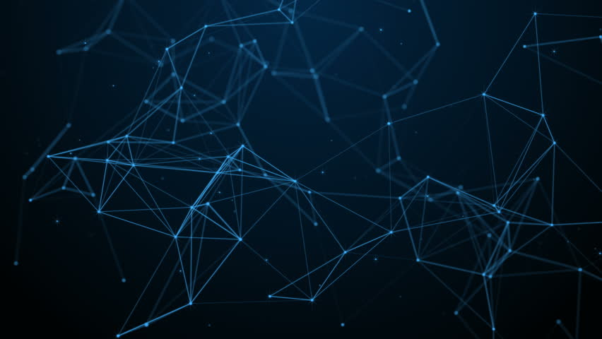 Abstract futuristic, polygonal space with a dark background with connecting points, lines and triangles. The concept of science, business, space. Loop animation | Shutterstock HD Video #31638274