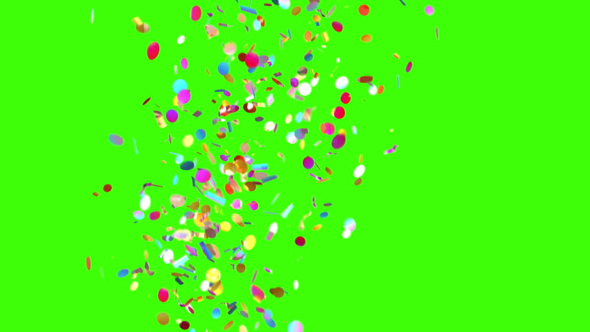 Confetti Party Popper Explosions on a Green Background. 3d animation, 4K.  | Shutterstock HD Video #31664557