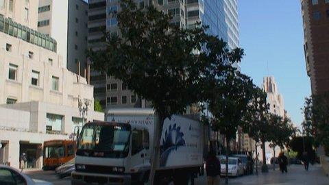 LOS ANGELES, CA - CIRCA 2009:  Buildings in downtown Los Angeles