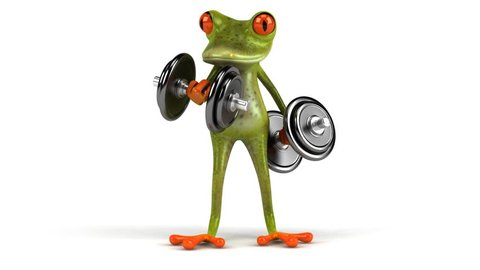 Fun frog with weights