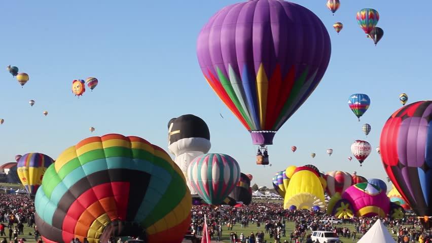Albuquerque, NM - October 5, 2013 -Hot air baloons at the annual Albuquerque Balloon Fiesta.