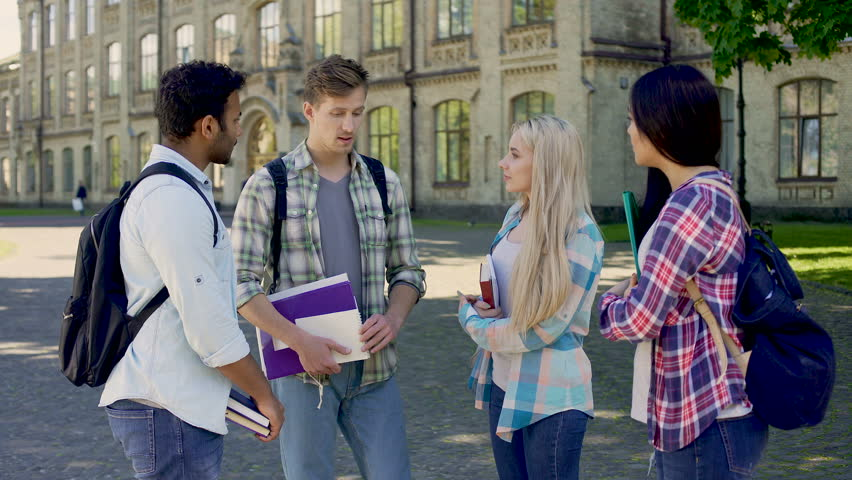 Students sharing their impressions of life in hostel, international friendship | Shutterstock HD Video #31690165