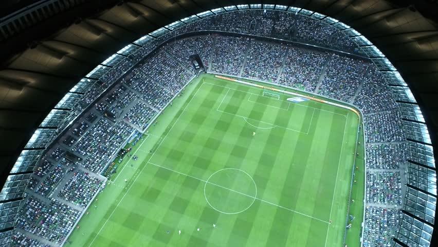 RUSSIA, KRASNODAR - SEN 24, 2017: Aerial view Krasnodar Arena stadium