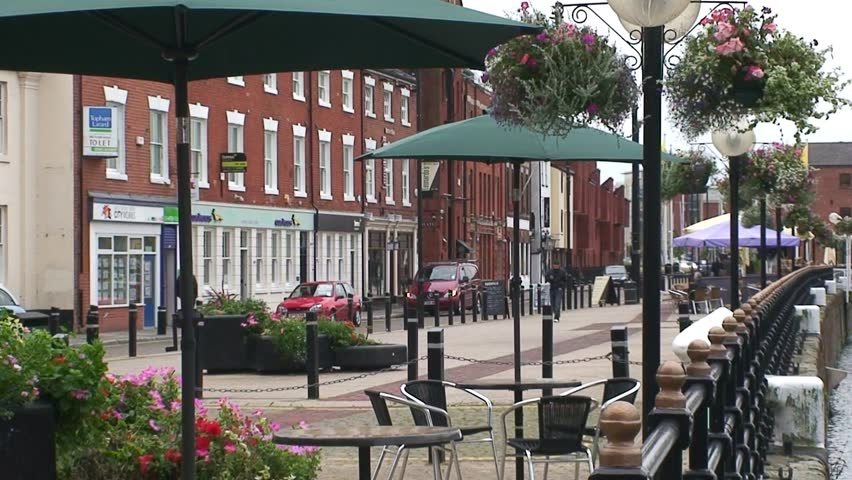 City center pedestrian quayside in Hull. | Shutterstock HD Video #3170620