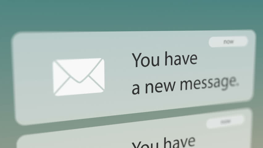 Close Up Shot of New Message Notification on Smart Phone. Seamless Loops. Royalty-Free Stock Footage #31709086