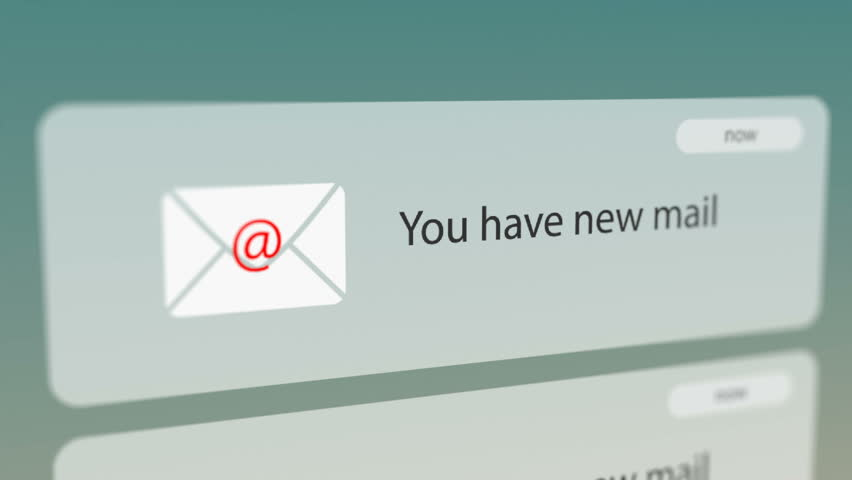 Close Up Shot of New E-mail Notification on Smart Phone. Seamless Loops. Royalty-Free Stock Footage #31709092