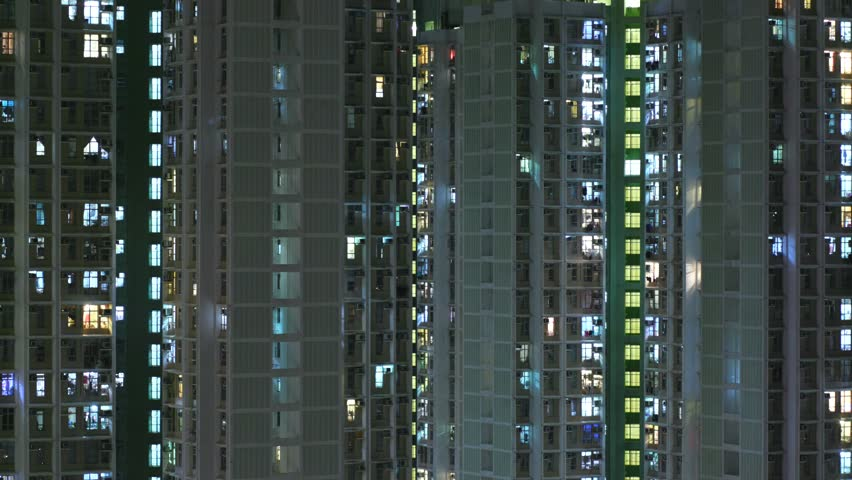 Time lapse of Hong Kong building facade #31718800