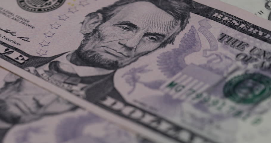 Close up heap of dollars, selective focus. Dollars, the us money background, 4K movie. | Shutterstock HD Video #31745698