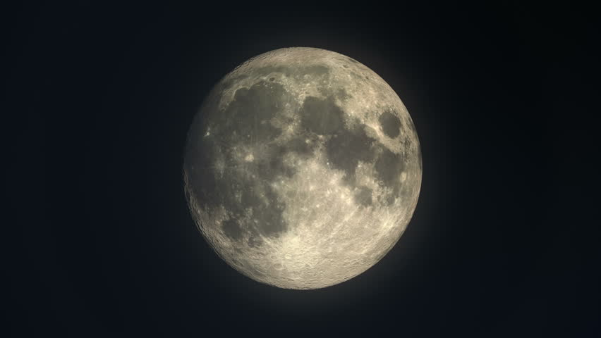 Phases of the moon from new moon to crescent, full, waxing and waning gibbous - time lapse loopable | Shutterstock HD Video #31763113