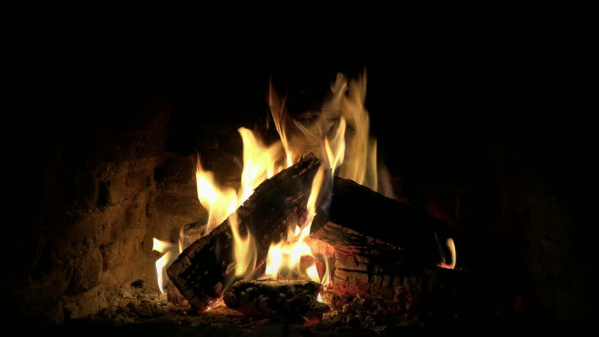 Cosy impressive lovely 4k close up loop view on fire wood flame burning slowly in fireplace campfire log calm atmosphere | Shutterstock HD Video #31779952