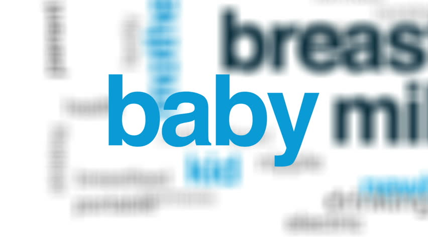 Breast milk animated word cloud, text design animation. | Shutterstock HD Video #31824685