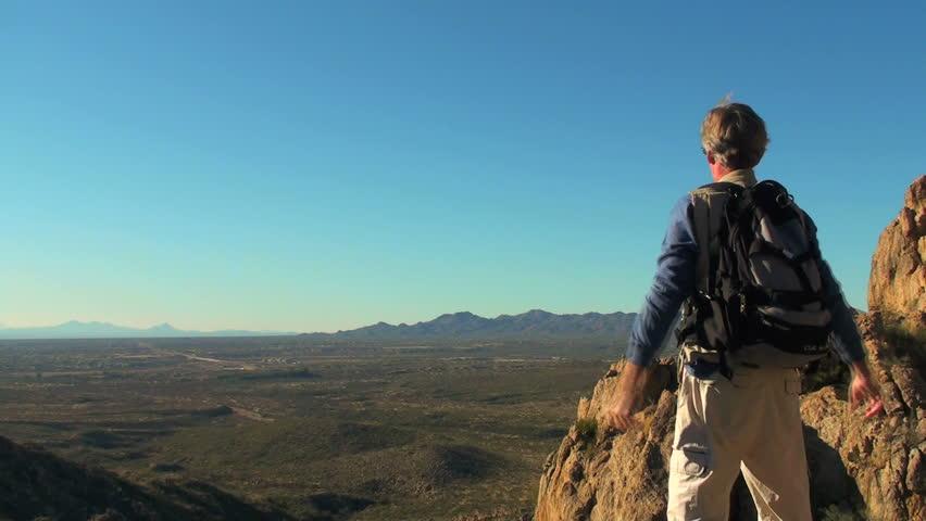 Make it to the top - Hiking Mountain - HD | Shutterstock HD Video #318604