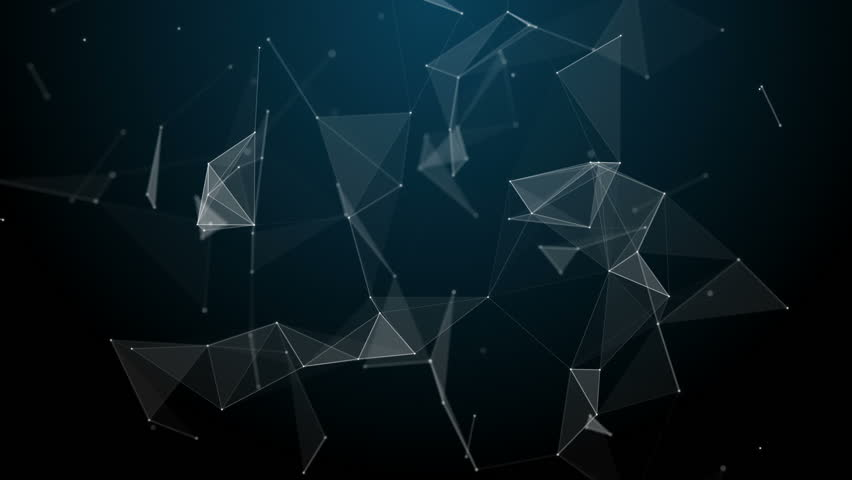 Graphical geometric background molecule and connection, white cybernetic points, stars, lines. Beautiful plexus. Abstract creative composition, gray wallpaper, space. Loop animation. Royalty-Free Stock Footage #31898233