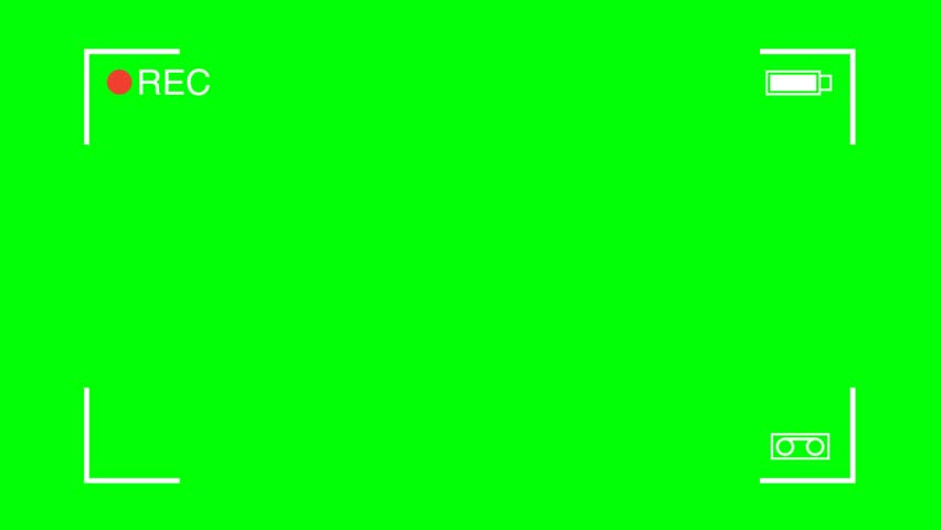 Camera Recording viewfinder frame green screen highquality   Shutterstock HD Video #31929367