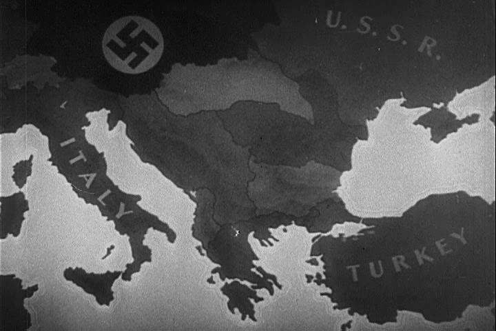 CIRCA 1940s - Admiral Miklos Horthy de Nagybanya, King Michael and King Boris surrender Hungary, Romania and Bulgaria to the Nazis, during World War 2, in 1941.