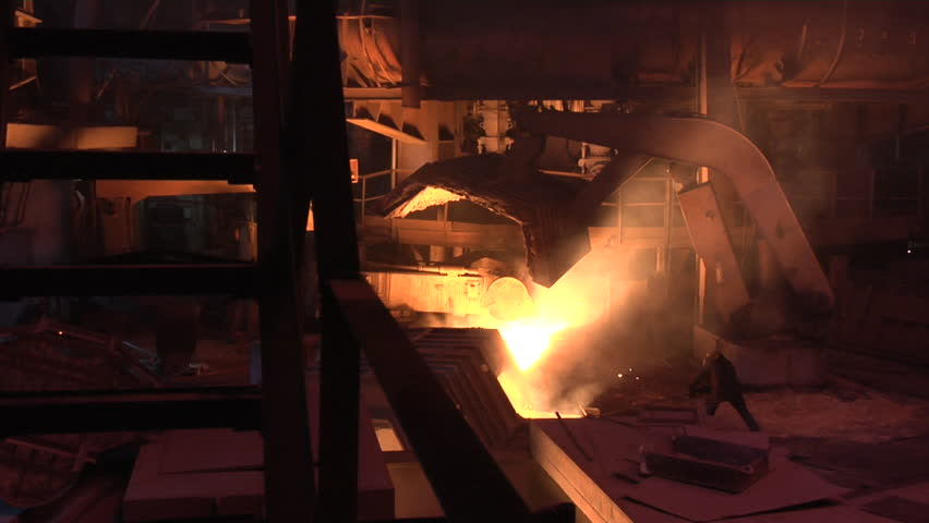 Metallurgical Plant. Plant for the smelting and rolled metal.