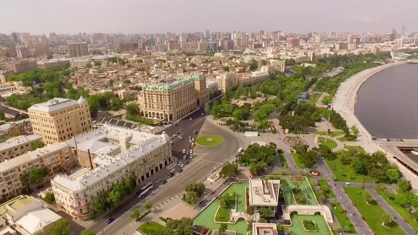 Aerial: Baku center
