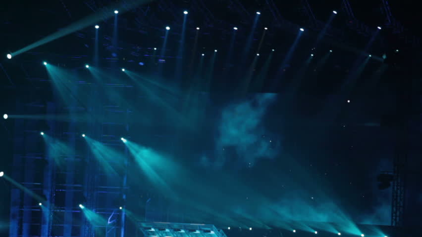 Stage Lighting Effects Stock Footage