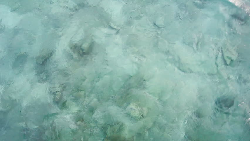 Blue turquoise sea water at Maldives. #32005933