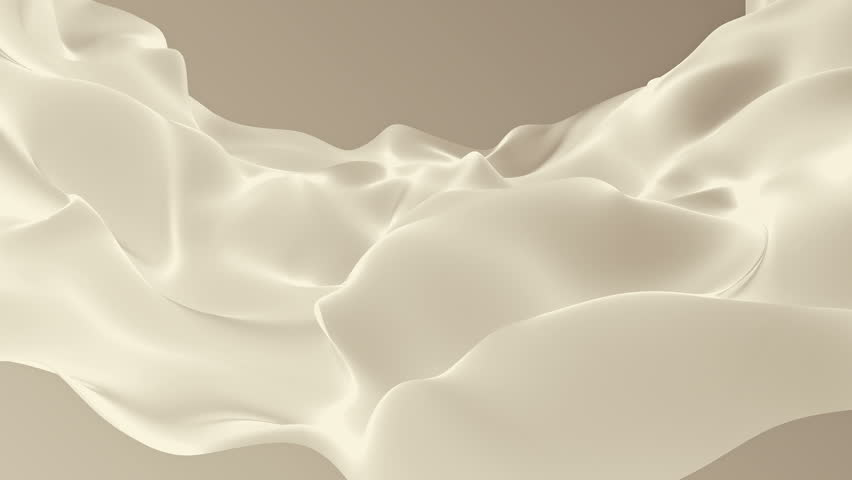 Abstract background waving with silk surface to the wind. Clear backdrop of ripple fabric. Beautiful abstraction of glowing cloth. Animation of seamless loop. #32010409