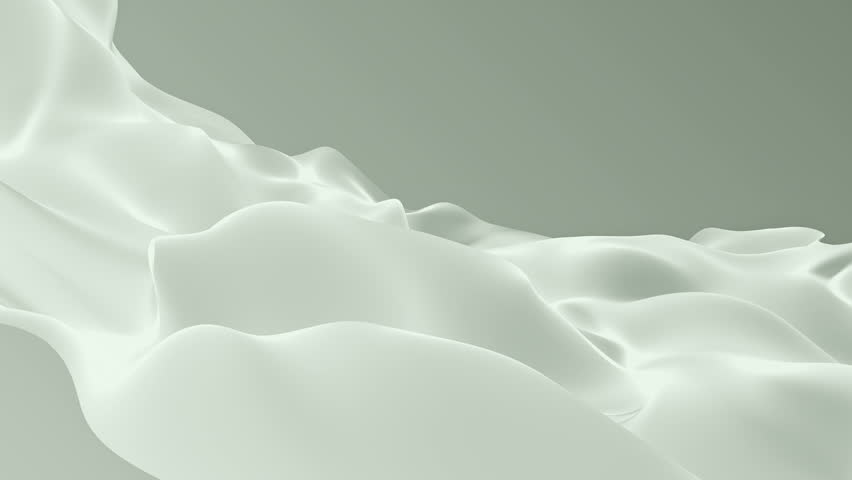 Abstract background waving with silk surface to the wind. Clear backdrop of ripple fabric. Beautiful abstraction of glowing cloth. Animation of seamless loop. #32010610