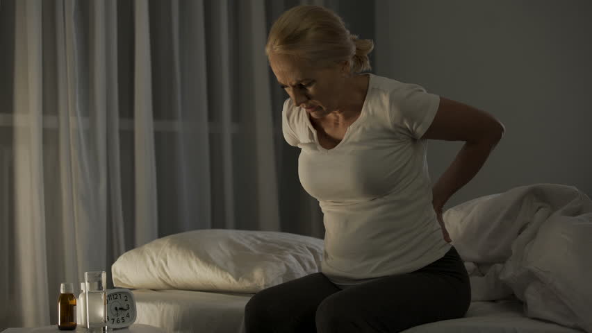 Lady in her 50 cannot sleep due to acute pain in lower back and kidneys, health