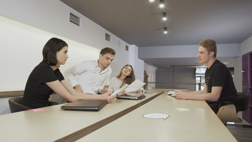 The team of young working business people | Shutterstock HD Video #32050576