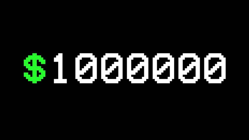 1 000 000 Dollar Money Countdown