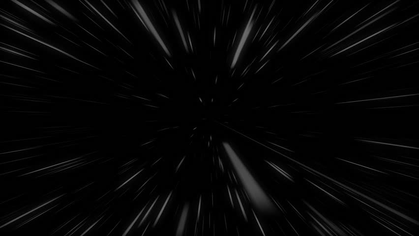 A sci-fi 3d rendering of white lines flight inside of some invisible tunnel in the black background. It looks like quick futuristic movement ia some black hole of the universe. | Shutterstock HD Video #32077198