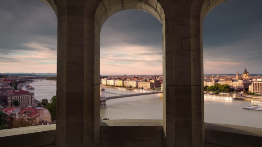 Budapest city skyline view from fisherman's bastion day to night timelapse    Shutterstock HD Video #32083381