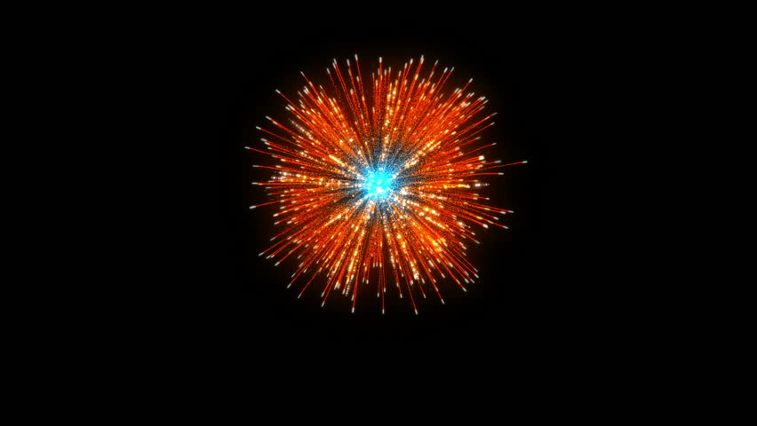Single Firework On Black Background   Shutterstock HD Video #32099875