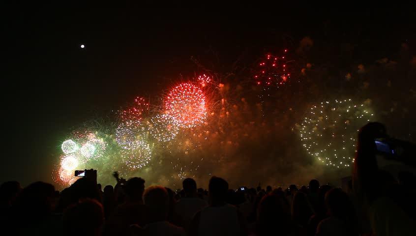 Fireworks, Rio de Janeiro, Copacabana, Brazil #3211108
