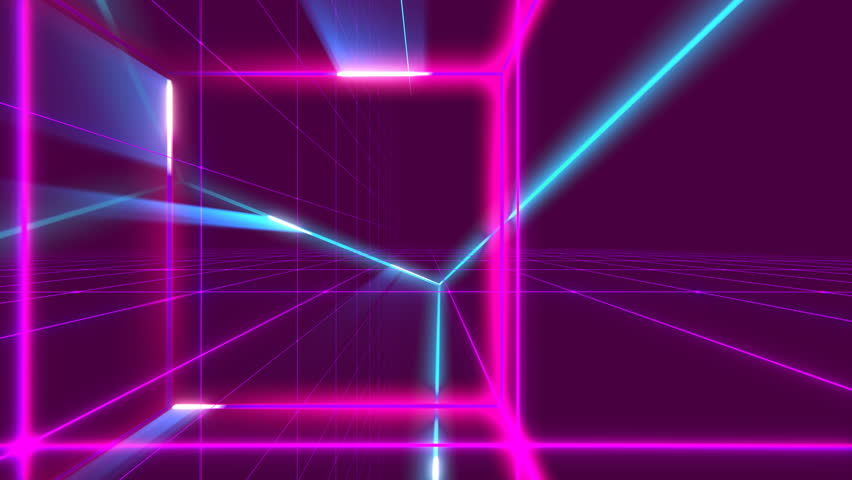 VJ 80's Synthwave Space