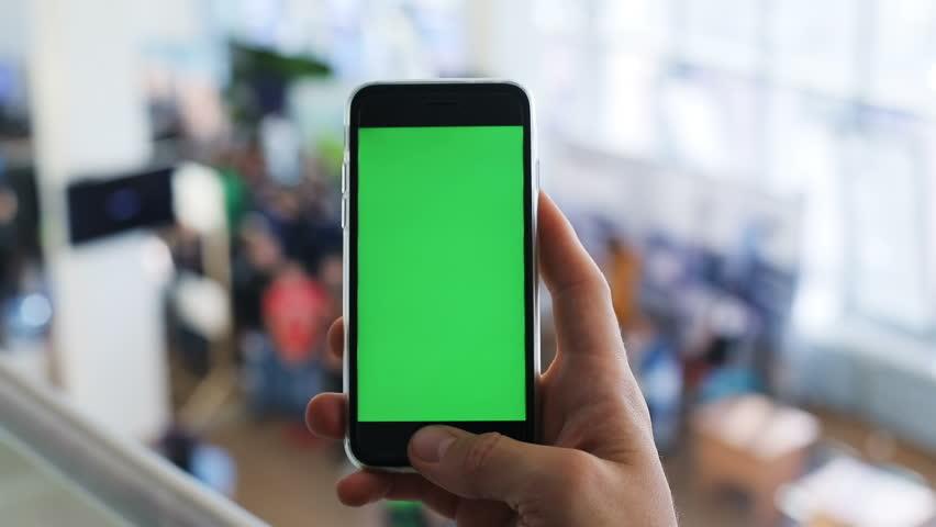 Man male closeup using smartphone airport terminal | Shutterstock HD Video #32141104