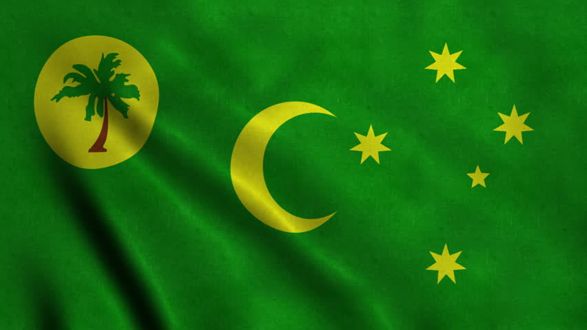 4K Seamless Loopable Flag of Cocos Islands