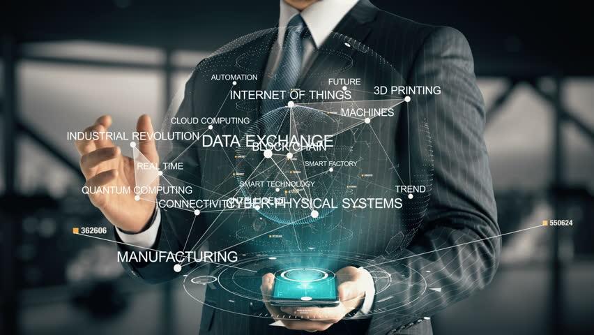 Businessman with Smart Factory | Shutterstock HD Video #32197003