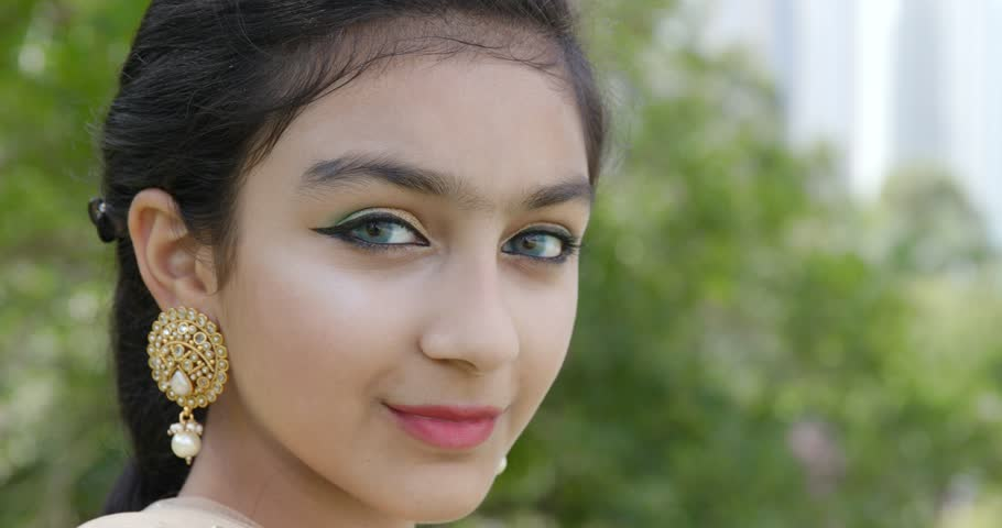 Young Pakistani Girl Smile To Stock Footage Video 100 Royalty Free 32198464 Shutterstock