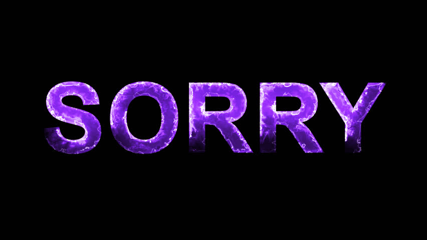 Luminous and shimmering haze inside the letters of the word SORRY. Transparent, Alpha channel | Shutterstock HD Video #32204608
