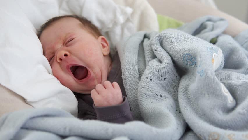 Cute Sleepy Newborn Baby Yawning Stock Footage Video 100 Royalty Free 32231035 Shutterstock