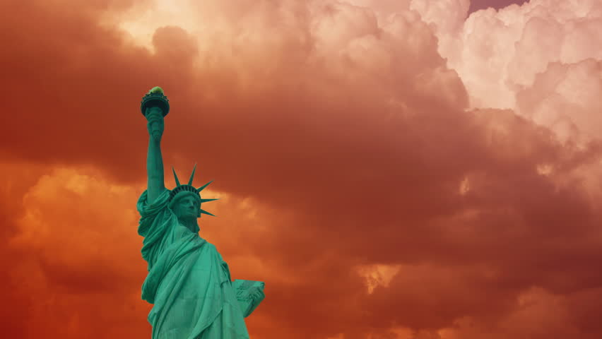 Statue of Liberty, with clouds and effects in New York: ultra hd 4k, time lapse | Shutterstock HD Video #32240593