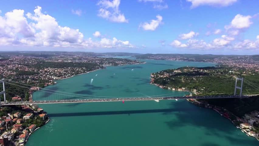 Aerial view of istanbul bosphorus bridge | Shutterstock HD Video #32260864