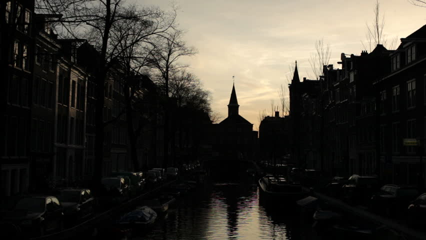Amsterdam canal silhouette   Shutterstock HD Video #3226249